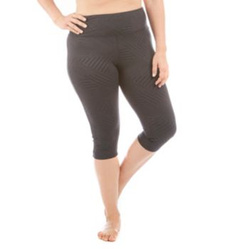 Plus Size Balance Collection Embossed Capri Leggings