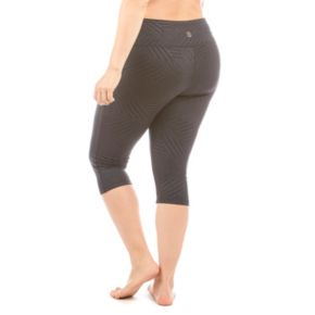 Plus Size Balance Collection Embossed Capri Leggings