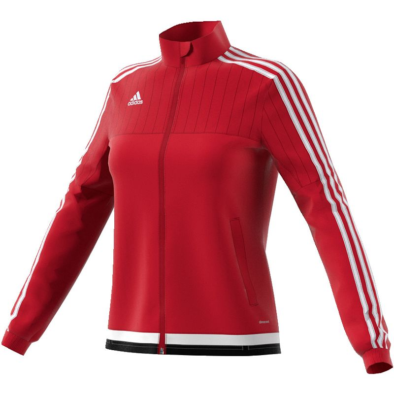 Women's Adidas Tiro 15 Training Jacket, Size: Medium, Red