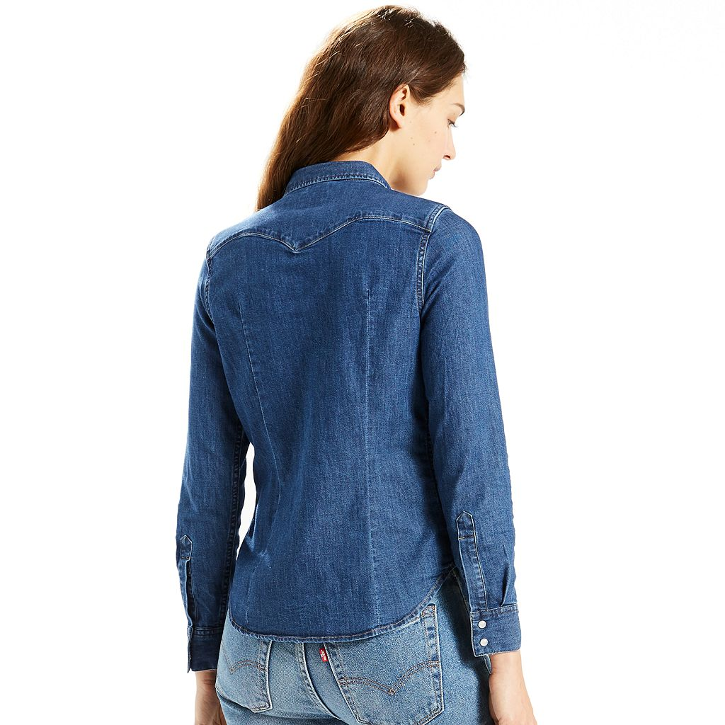 Women's Levi's Classic Tailored Western Denim Shirt