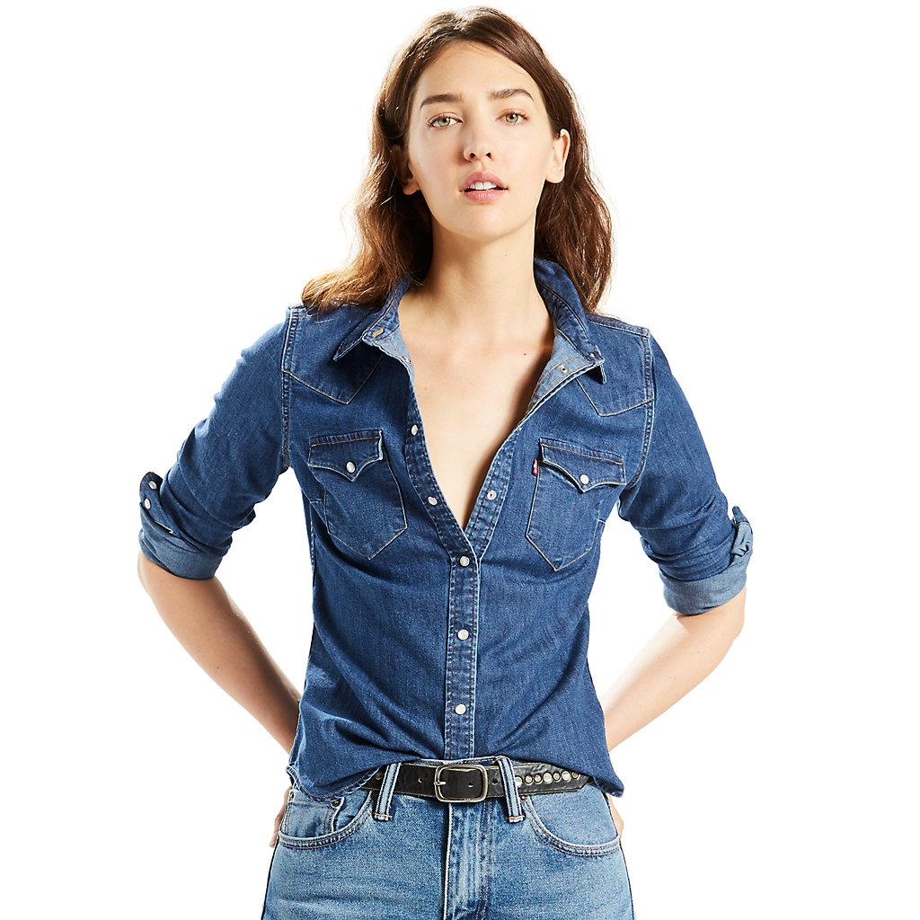 Women's Levi's Classic Tailored Western Denim Shirt