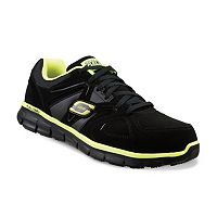 Skechers Work Relaxed Fit Synergy Ekron Men's Alloy-Toe Shoes