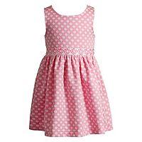 Toddler Girl Youngland Textured Polka-Dot Daisy Dress