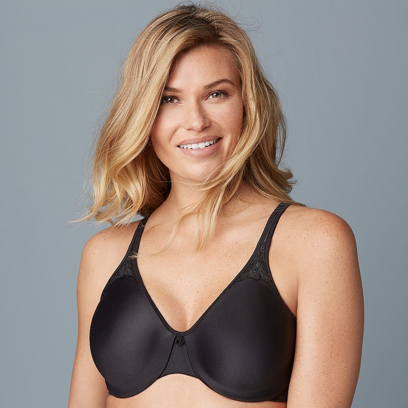 Bali Minimizer Bra: Passion For Comfort Bra 3385 - Women's Size 34 D (Black)