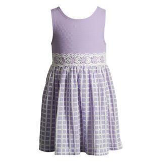 Toddler Girl Youngland Textured Crochet Dress