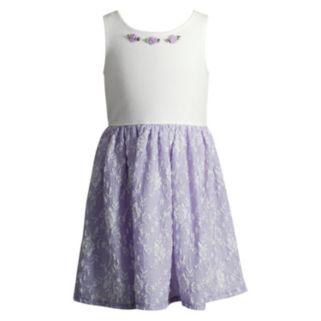 Toddler Girl Youngland Lilac Lace Skirt Dress