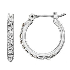 Dana Buchman Pave Hoop Earrings