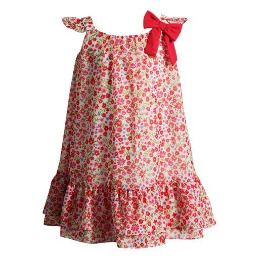 Toddler Girl Youngland Woven Chiffon Floral Dress