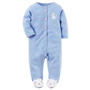 Baby Girl Carter's Kitty Heart-Print Sleep & Play