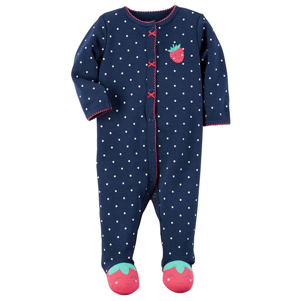 Baby Girl Carter's Polka-Dot Strawberry Sleep & Play