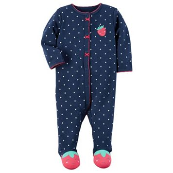 Baby Girl Carter's Polka-Dot Strawberry Sleep & Play