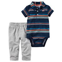 Baby Boys Carter's Striped Polo Bodysuit & Pants Set