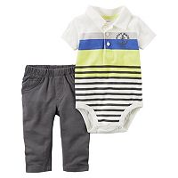 Baby Boy Carter's Anchor Polo Bodysuit & Pants Set