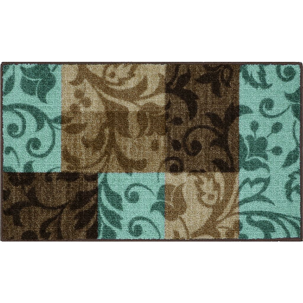 Maples Highland Louise Scroll Block Rug