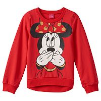Disney's Minnie Mouse Girls 7-16 Signature Laugh French Terry Top