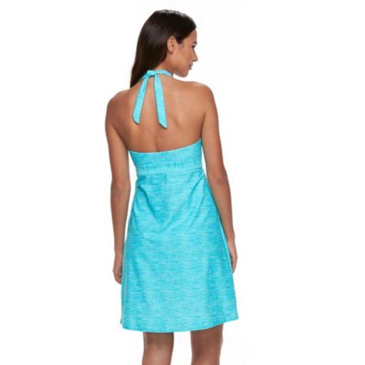 Women's ZeroXposur Space-Dye Cover-Up Halter Swim Dress