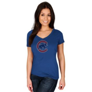 Women's Majestic Chicago Cubs Dream of Diamonds Tee