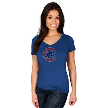 Women's Majestic Chicago Cubs Dream of Diamonds Tee