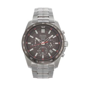 Pulsar Men's Stainless Steel Solar Chronograph Watch - PZ5005
