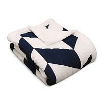 Jigsaw Chevron Sherpa Throw