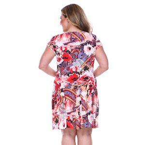 Plus Size White Mark Fit & Flare Dress