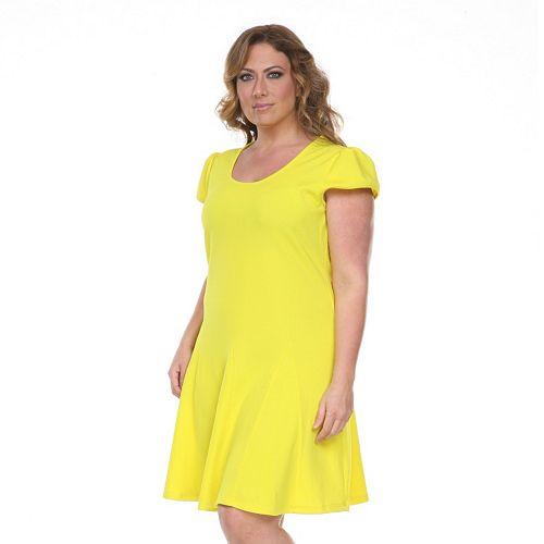 Plus Size White Mark Fit & Flare Dress