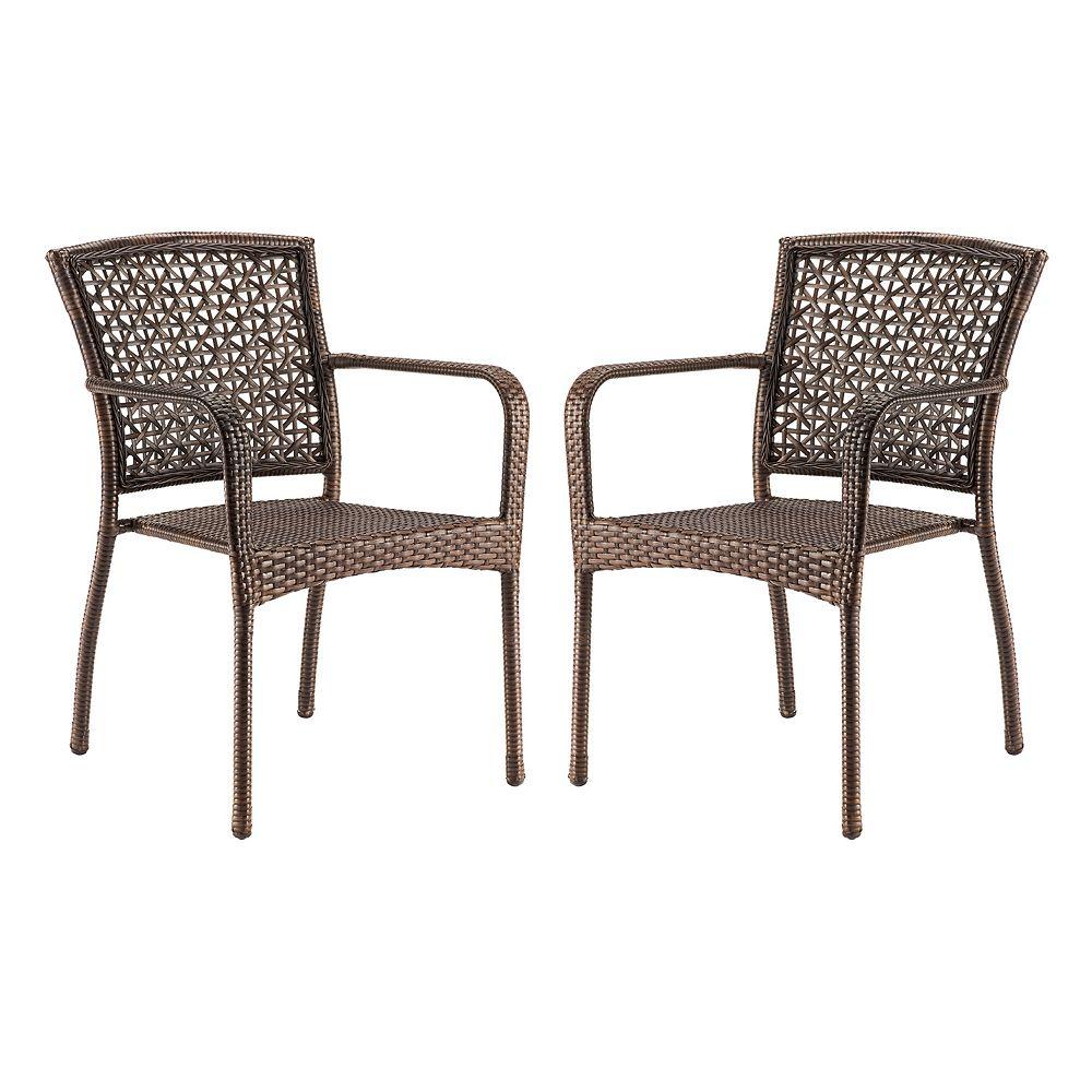 Garden chair top view - Sonoma Goods For Life Presidio Patio Woven Stacking Bistro Chair 2 Piece Set