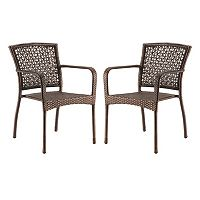 SONOMA Goods for Life™ Presidio Patio Woven Stacking Bistro Chair 2-piece Set