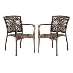 SONOMA Goods for Life™ Presidio Patio Woven Stacking Bistro Chair 2 pc Set