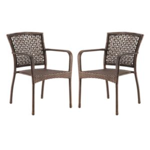 SONOMA Goods for Life™ Presidio Patio Woven Stacking Bistro Chair 2-piece Set