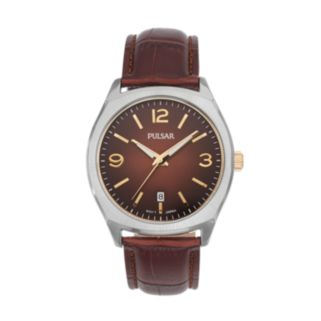 Pulsar Men's Leather Watch - PS9485