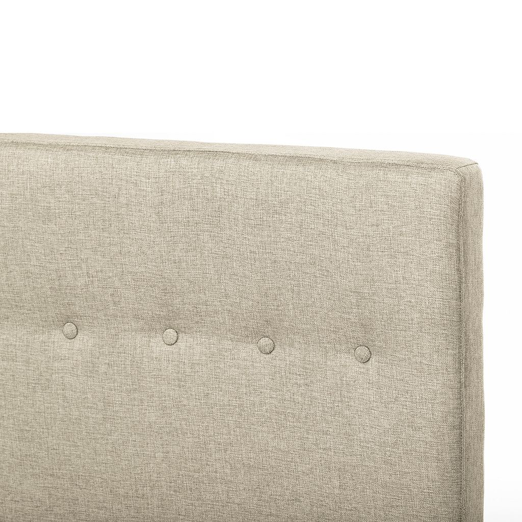 Baxton Studio Kind Size Callasandra Contemporary Linen Bed