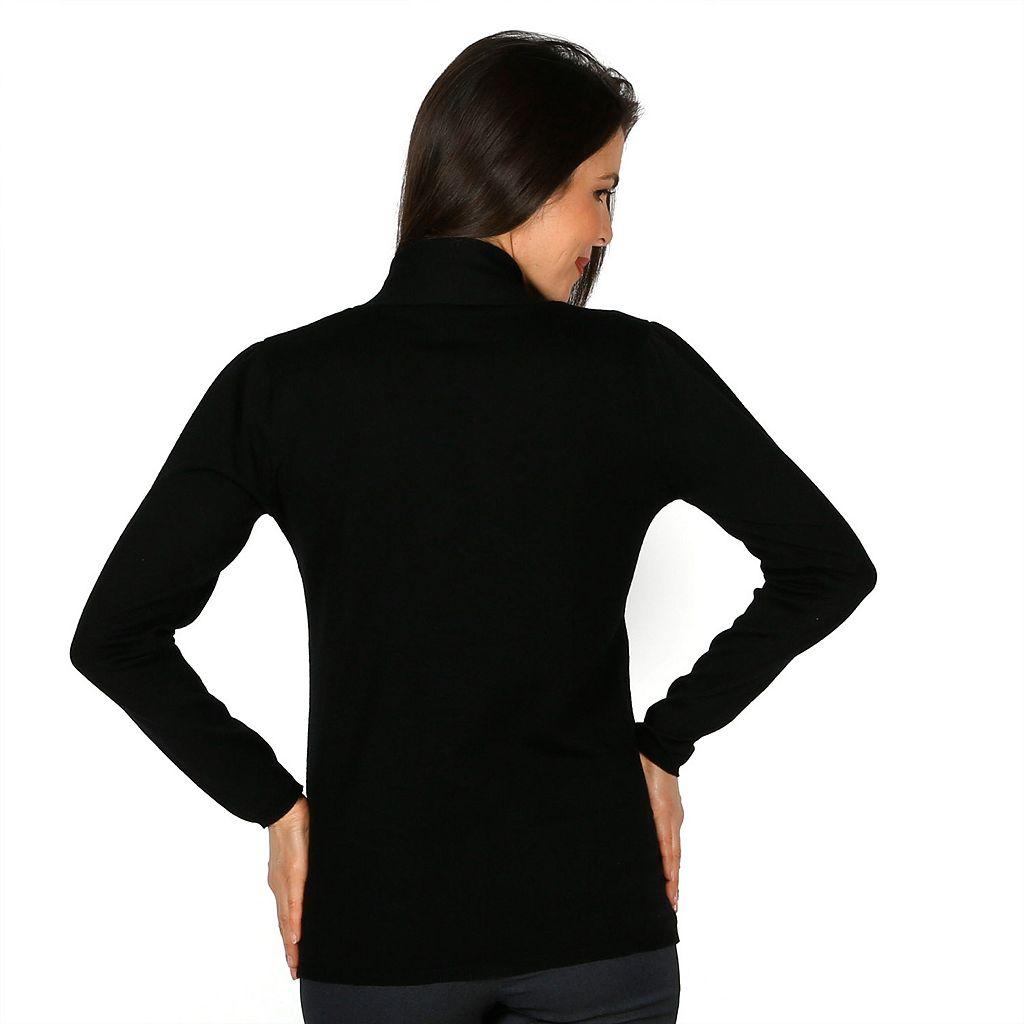 Women's Harve Benard Solid Tie-Front Sweater