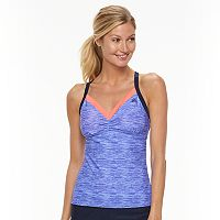 Women's ZeroXposur Space-Dyed Racerback Tankini Top