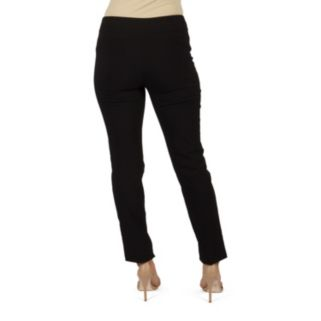 Women's Harve Benard Slim Straight-Leg Pull-On Pants