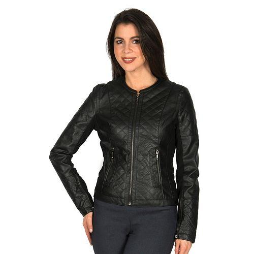 99649e39cf6 Women s Harve Benard Faux-Leather Motorcycle Jacket