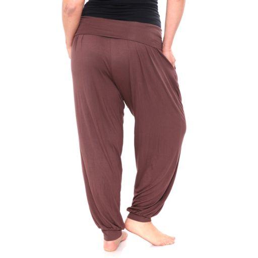 Plus Size White Mark Harem Pants
