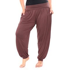 Plus Size White Mark Harem Pants