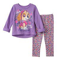 Baby Girl Paw Patrol Skye Sweatshirt & Cheetah Leggings Set