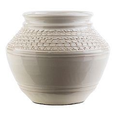 Decor 140 Salia 8' x 10.5' Textured Beige Vase