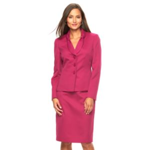 Women's Le Suit Pique Suit Jacket & Pencil Skirt Set