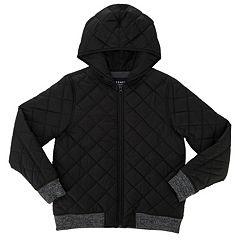 Girls Black Puffer & Quilts Kids Coats & Jackets - Outerwear