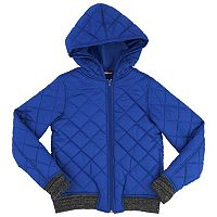 Girls 7-16 & Plus Size French Toast Quilted Hooded Bomber Jacket