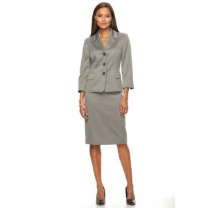 Women's Le Suit Zigzag Suit Jacket & Pencil Skirt Set