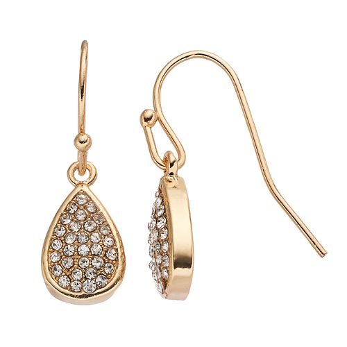 LC Lauren Conrad Pave Teardrop Earrings