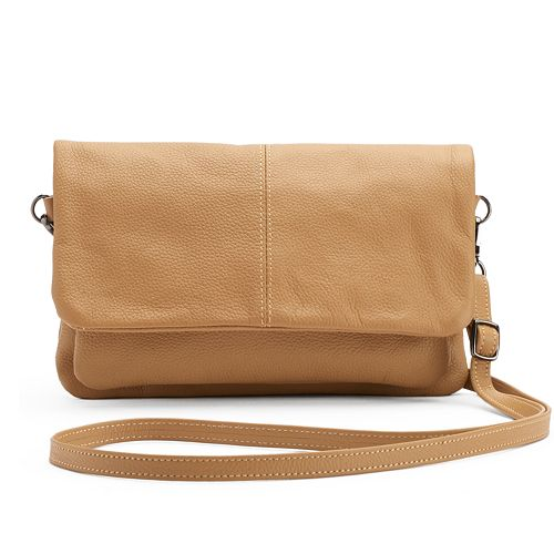 R&R Leather Leather Flap Crossbody Bag