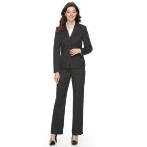 Women's Le Suit Crosshatch Suit Jacket & Pants Set