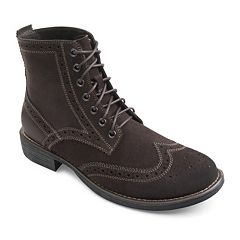 Eastland Bennett Men's Suede Wingtip Boots by