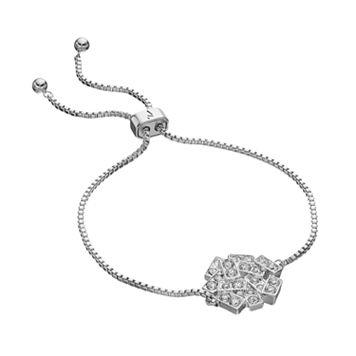 Simply Vera Vera Wang Rectangle Lariat Bracelet with Swarovski Crystals