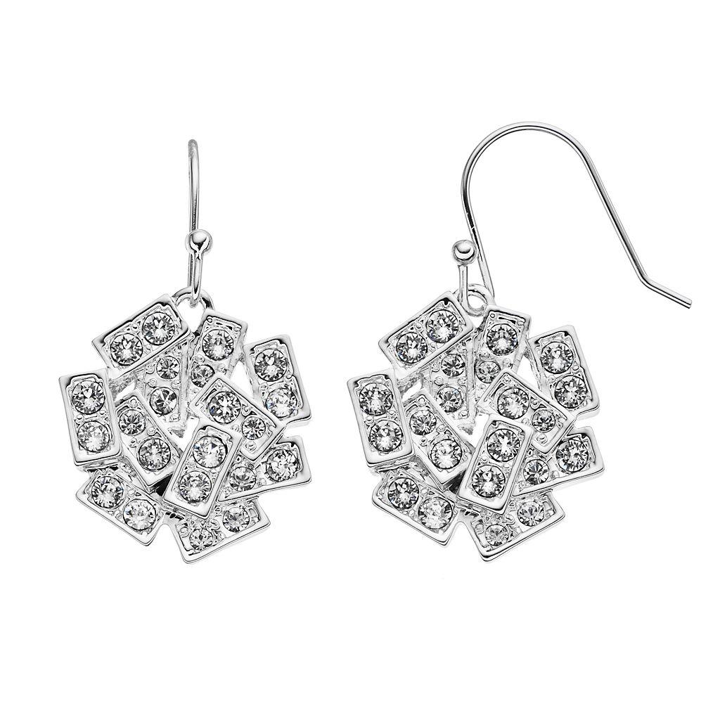 Simply Vera Vera Wang Rectangle Drop Earrings with Swarovski Crystals
